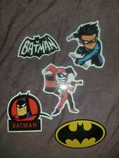 DC Comics Batman Harley Quinn Robin (5 Skateboard Laptop Stickers)