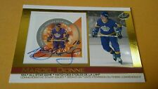 2004 Pacific Autographed MARCEL DIONNE LA Kings Commemorative Stamp Issued Card