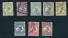 "1913 - 1935 Australia (8) ""KANGAROOS""; ALL USED & F - VF; CV $170"
