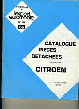 (127A) Catalogue pièces détachées 1976 CITROEN 2 CV AMI 6 8 Méhari GS ID DS H...