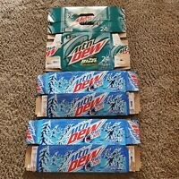 Mountain dew boxes 1 24 pack box of baja blast and 2 12 packs of frostbite empty