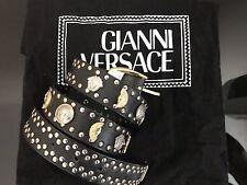 Gianni Versace Vintage Silver and Gold Studded Medusa Belt.