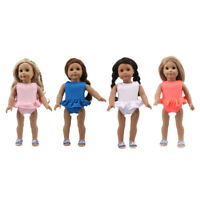 Cute Doll One-piece Swimsuit Clothes for AG American Doll 18Inch Doll Accessory