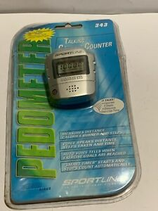 LCD Talking Step Pedometer Sportline Calorie Counter Walking Distance