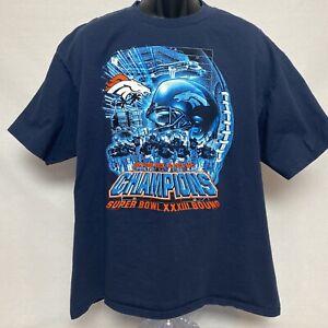 Vintage 1999 NFL Superbowl Bound XXXIII Denver Broncos AFC Champions T Shirt 2XL