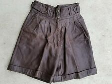 Leather Lederhosen Shorts  made in Hungary Vintage Sz 40 Check Measurements