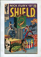 NICK FURY, AGENT OF SHIELD #1 (4.5) SIGNED BY JIM STERANKO KEY!