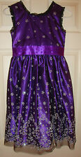 JONA/MICHELLE~girl~GORGEOUS/PURPLE/SILVER/BEADED/LINED/DRESS(12)BRAND/NEW! NICE!