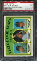1972 Topps CARLTON FISK #79 Rookie PSA 5 (EX) HOF Red Sox BASEBALL CARD RC