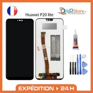 Ecran lcd + vitre tactile Huawei P20 lite + colle + outils