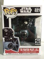 Funko POP! Deluxe Star Wars TIE FIGHTER PILOT WITH TIE FIGHTER 221 Brand New!