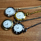Charm Men Women Clear Dial Roman Numerals Analog Quartz Chain Pocket Watch Gift