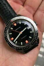 Vintage Neptune Baylor Skindiver Dive Watch Serviced! 37mm Wide Tropic Strap