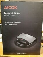Aicok Sandwich Maker, Waffle maker, Sandwich toaster, 750-Watts, 3-in-1 Detac...