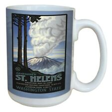 St. Helen's Volcano Eruption Large Ceramic  15-Ounce Mug , -TreeFree Greeting