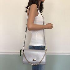 NEW! KATE SPADE Bixby Place Greer Shoulder Crossbody Bag Clutch Stoneice Grey