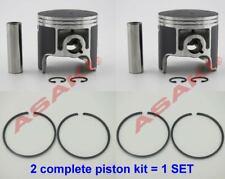 For Personal Watercraft Pwc Yamaha 700 Piston Kit -Std (62T-11631-00 + Ring) X2