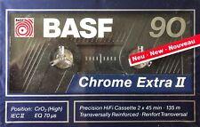 BASF Chrome Extra II 90 Leerkassette Precision HiFi Cassette 2x45 min 135m NEU!