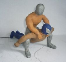 Mexican El Santo & Blue Demon - Rubber Toy - Made In Mexico Bootleg