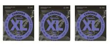 D'Addario ECG24 Chromes Flatwound Guitar Strings Jazz Light 11-50 (3-Pack)