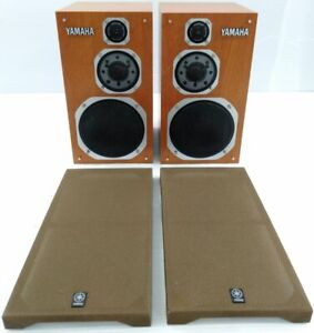 """YAMAHA NS-1000MM Speaker Pair Tested Working Used """"Work / Exc"""" From Japan"""