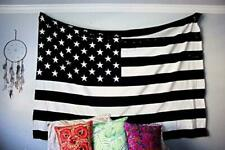 The Boho Street Exclusive 100% Cotton Black and White Vintage American Flag Tape