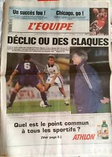 L'Equipe Journal 26/4/1995; Chicago bulls/ France-Slovaquie/ Hockey sur glace