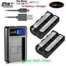 2X Battery+Charger for Sony NP-F330 NP-F550 NP-F570 F530 NP-F750 NP-F970 AU-ship