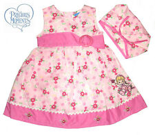 PRECIOUS MOMENTS ~FLORAL SUNDRESS & KERCHIEF SET~ SZ 2T