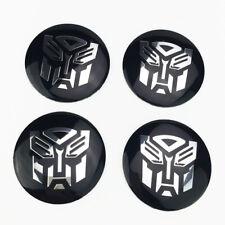 4 x Transformers Logo Car wheel center caps hub caps emblem sticker For Chevy
