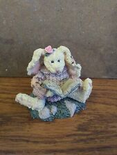 "Boyds Bears Figurine ""Daphne The Reader Hare"" 1995 Style #2226 Numbered Euc"