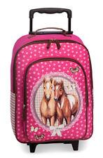 Fabrizio Kindertrolley Trolley Reisetrolley Kinder Koffer Pferde pink