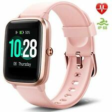 """Letsfit Fitness Trackers, Smart Watch with 1.3"""" Touch Screen, Activity Tracker"""