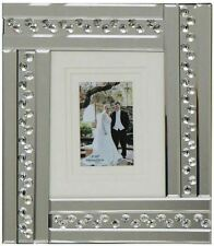 Glitz Mirrored Glass Crystals silver One Photo Frame/ Home 6X4 OR 7X5 OR 8X6