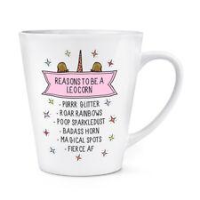 Reasons To Be Un Leocorn 341ml Latte Tazza Divertente Leopardo Unicorno Animale