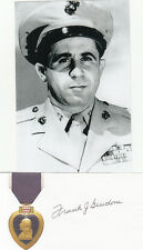 Marine Raider WWII Guadalcanal Captain F.Giudone SIGNED 3x5 CARD