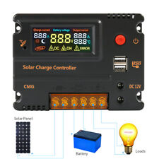 CMG 20A 12V 24V LCD Solar Panel Charge Controller Battery Regulator Auto Switch