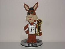 THE COYOTE San Antonio Spurs Mascot Bobble Head 2014 NBA Champs Trophy Ed** New*