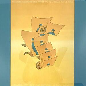 Vintage Poster Jean Michel FOLON C. Manesse Avignon 73 Palais de Papes 16 x 20