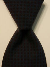 HUGO BOSS Men's 100% Cotton Necktie ITALY Designer Geometric Gray/Wine EUC