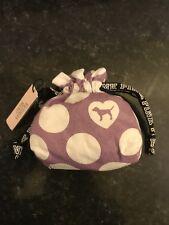 Victoria's Secret purple/white PINK Perfume Pouch bag Fabric Storage Gift UK New