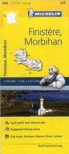 Finistere, Morbihan France Local Michelin Map 308