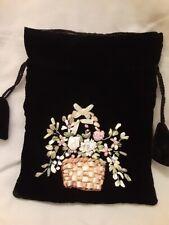 Black Velvet Evening Bag w/ Flower Basket 100% Donation 2 Cure K9 Cancer