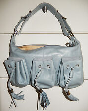 $1,015 GIVENCHY Bag Handbag Fringe Purse Hobo Leather & Silvertone Hardware NWT