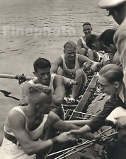 1936 Vintage 11x14 OLYMPICS Germany Sports Sculling Rowing Photo Art PAUL WOLFF