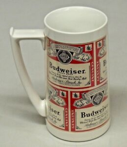 Vintage Budweiser Beer Plastic Insulated Mug Thermo-Serv by West Bend