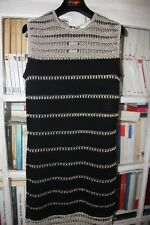 VIONNET Robe courte sans manche noir et argent 36 FR NEUVE