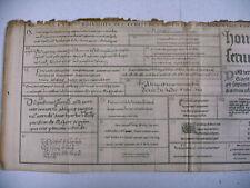 litho ancienne 1750 écriture capétienne gothique traité diplomatique