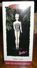 1994 Debut-1959 Barbie Doll Hallmark Ornament 1st in Series Blond Exc