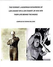 LON CHANEY SR & JR MOVIE LIFE SCRAPBOOK FJ ACKERMAN CLIPPINGS PHANTOM WOLFMAN